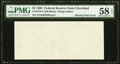 Error Notes:Blank Reverse (100%), Missing Back Printing Error Fr. 1978-D $5 1985 Federal Reserve Note. PMG Choice About Unc 58 EPQ.. ...