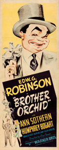 """Movie Posters:Crime, Brother Orchid (Warner Bros., 1940). Fine/Very Fine on Paper. Insert (14"""" X 36"""").. ..."""