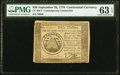 Colonial Notes:Continental Congress Issues, Continental Currency September 26, 1778 $50 Contemporary Counterfeit PMG Choice Uncirculated 63 EPQ.. ...