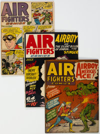 Air Fighters Comics Group of 4 (Hillman Fall, 1943-44) Condition: Average GD/VG.... (Total: 4 )