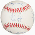 Autographs:Baseballs, 300 Win Club Multi-Signed Baseball. ...