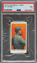 Baseball Cards:Singles (Pre-1930), 1910 E105 Mello-Mint Cy Young PSA NM 7 - Pop Two, None Higher! ...