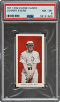 Baseball Cards:Singles (Pre-1930), 1911 E94 Close candy Johnny Evers (Red) PSA NM-MT 8 - Pop One, None Higher!...