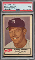 Baseball Cards:Singles (1950-1959), 1954 Dan-Dee Potato Chips Mickey Mantle PSA NM 7. ...