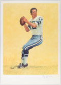 Autographs:Others, Roger Staubach Signed Poster. ...