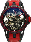 Timepieces:Wristwatch, Roger Dubuis, Excalibur Spider Red Skeleton, Carbon Case, Ltd Ed 13/88, Circa 2018 . ...