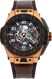 Hublot, Big Bang Ferrari King Gold Carbon, Flyback Chronograph, Ltd Ed. 230/500, Circa 2015