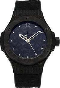 Hublot, Big Bang Broderie, All Black With Diamonds, Ltd Ed. 46/200, Circa 2015