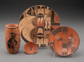 American Indian Art:Pottery, Four Hopi Pottery Items... (Total: 4 )