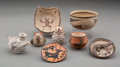 American Indian Art:Pottery, Eight Southwest Pottery Items... (Total: 8 )