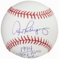Autographs:Baseballs, Alex Rodriguez Signed Baseball with 1994 Stats Inscribed....