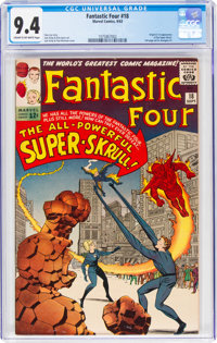 Fantastic Four #18 (Marvel, 1963) CGC NM 9.4 Cream to off-white pages