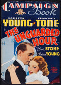 """Movie Posters:Crime, The Unguarded Hour (MGM, 1936). Folded, Good/Very Good. Cut Pressbook (Multiple Pages, 14"""" X 19.5). Crime.. ..."""