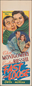 "Movie Posters:Mystery, Fast and Loose (MGM, 1939). Folded, Fine/Very Fine. Australian Pre-War Daybill (15"" X 40""), Title Lobby Card, & Lobby Cards ... (Total: 6 Items)"