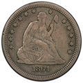 1864-S 25C Fine 15 PCGS. CAC. PCGS Population: (11/45 and 0/1+). NGC Census: (0/24 and 0/0+). CDN: $1,300 Whsle. Bid for...