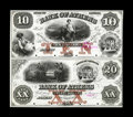 Obsoletes By State:Georgia, Athens, GA- Bank of Athens $10-20 G8a-G10a Uncut Sheet Proofs. ...