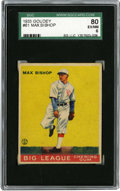 Baseball Cards:Singles (1930-1939), 1933 Goudey Max Bishop #61 SGC 80 EX/NM 6. Solid offering from the hobby's greatest Depression-era set features the star se...