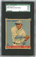 Baseball Cards:Singles (1930-1939), 1933 Goudey Fred Lindstrom #133 SGC 70 EX+ 5.5. With an impressive absence of wear, this specimen would rocket even higher ...
