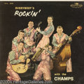 "Music Memorabilia:Recordings, Champs ""Everybody's Rockin' with the Champs"" LP Challenge 605 Mono(1958)...."