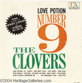 "Music Memorabilia:Recordings, The Clovers ""Love Potion Number 9"" LP United Artists 3099 Mono(1959)...."