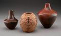 American Indian Art:Pottery, Three Navajo Pottery Jars... (Total: 3 )