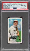 Baseball Cards:Singles (Pre-1930), 1909-11 T206 Sweet Caporal 150/30 Willie Keeler (With Bat) PSA NM-MT 8. ...