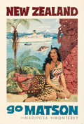 Movie Posters:Miscellaneous, Matson Lines: New Zealand, Hawaii, South Seas, & Fiji (Lat...