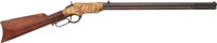 Inscribed Henry Lever Action Rifle to John W. Rush