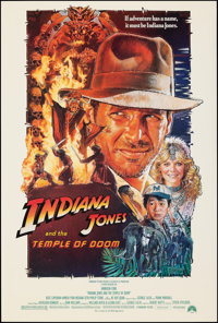 """Indiana Jones and the Temple of Doom (Paramount, 1984). Folded, Very Fine/Near Mint. One Sheet (27"""" X 40""""). St..."""