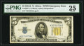 Small Size:World War II Emergency Notes, Fr. 2307* $5 1934A North Africa Silver Certificate. PMG Very Fine 25.. ...