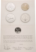 Explorers:Space Exploration, NASA Manned Flight Awareness Medal Collection, All Minted with Flown Metal: Apollo 8, Apollo 11, Skylab, and Approach & Landin...