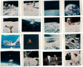 """Explorers:Space Exploration, Apollo 16: Group of Eighteen Vintage NASA Kodak Color Photos including the Famous John Young """"Leaping Salute"""" Image. ..."""