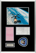 Explorers:Space Exploration, Skylab III (SL-4) Flown Teleprinter Message Originally from the Personal Collection of Mission Pilot Bill Pogue, in Framed Dis...