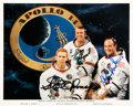 Explorers:Space Exploration, Apollo 14 Crew-Signed White Spacesuit Color Photo. ...