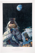 "Explorers:Space Exploration, Alan Bean Signed Limited Edition ""Moon Rovers"" Print, #500/550. ..."