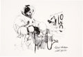 """Explorers:Space Exploration, Apollo 11: Paul Calle Limited Edition, #17/250, """"Collins Suiting Up"""" Print, Signed by Michael Collins. ..."""