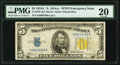 Small Size:World War II Emergency Notes, Bookend Serial Number K36699366A Fr. 2307 $5 1934A North Africa Silver Certificate. PMG Very Fine 20.. ...