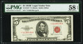 Fr. 1534* $5 1953B Legal Tender Note. PMG Choice About Unc 58 EPQ