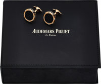 "Audemars Piguet, Pink Gold ""Royal Oak"" Cufflinks, Circa 2000"