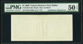 Error Notes:Blank Reverse (100%), Missing Back Printing Error Fr. 1934-K $1 2009 Federal Reserve Note. PMG About Uncirculated 50 EPQ.. ...