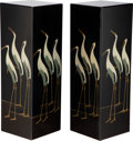 Furniture, A Pair of Continental Lacquer Pedestals, 20th century. 36 x 11-3/4 x 11-3/4 inches (91.4 x 29.8 x 29.8 cm) (each). ... (Total: 2 Items)