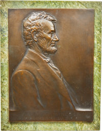 1907 Victor D. Brenner Lincoln Plaque. King-1146, Smedley-83, Cunningham-24-060Bz....(PCGS# 2423)