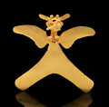 Pre-Columbian:Metal/Gold, A Chiriqui Gold Eagle Pendant...