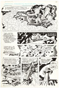 Original Comic Art:Panel Pages, Jack Kirby and D. Bruce Berry DC Graphic Novel #4 The Hunger Dogs Page 32 Original Art (DC, 1985)....