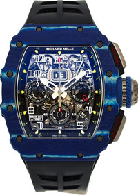 Richard Mille, RM 11-03, 50 Years of Jean Todt, Flyback Chronograph annual Calendar, Quartz TPT, No. 38 of 150, Circa 20...
