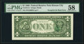 Error Notes:Third Printing on Reverse, Third Printing on Back Error Fr. 1914-J $1 1988 Federal Reserve Note. PMG Choice About Unc 58.. ...