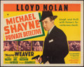 """Movie Posters:Mystery, Michael Shayne, Private Detective & Other Lot (20th Century Fox, 1940). Folded, Fine/Very Fine. Half Sheets (2) (22"""" X 28"""").... (Total: 2 Items)"""