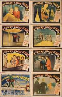 """Invaders from Mars (20th Century Fox, 1953). Fine. Lobby Card Set of 8 (11"""" X 14""""). Science Fiction. ... (Tota..."""