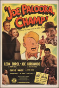"Movie Posters:Sports, Joe Palooka, Champ (Monogram, 1946). Very Fine on Linen. One Sheet (27"" X 41""). Sports.. ..."