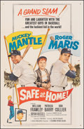 """Movie Posters:Sports, Safe at Home (Columbia, 1962). Very Fine+ on Linen. One Sheet (27"""" X 41""""). Sports.. ..."""